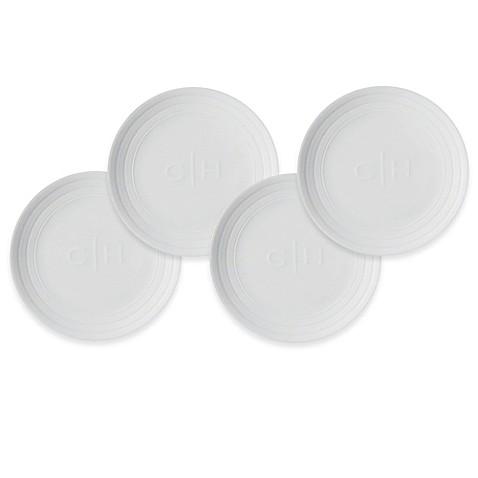 Caskata cambridge stripe canap plates set of 4 bed for Canape plate sets