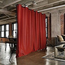 image of room divider kit with 9foot tall curtain panel b