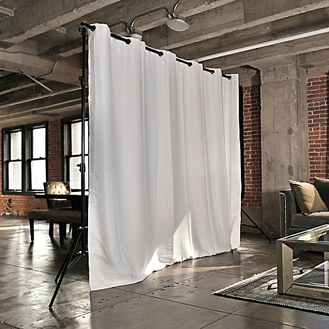 Buy Room Dividers Now X Large Freestanding Room Divider Kit A With 8 Foot Curtain Panel In