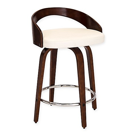 Buy Lumisource Grotto Counter Stool In White From Bed Bath