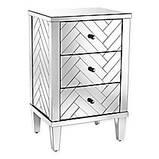 image of Sterling Industries Chatelet Collection Mirrored 3-Drawer Chest