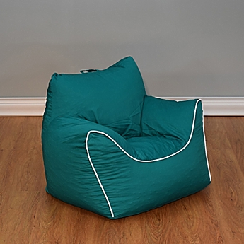 Image Of Emerald Green Bean Bag Chair With Removable Cover