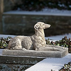 image of Campania Whippet Statue in Greystone