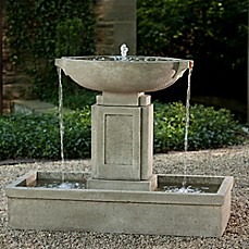 image of Campania Austin Outdoor Fountain in Alpine Stone