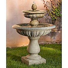image of Campania Longvue Outdoor Fountain in Alpine Stone