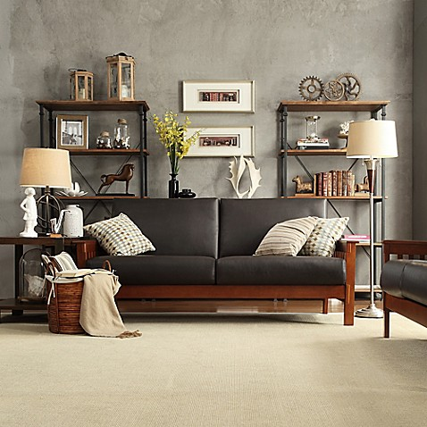 Verona home brixton mission loveseat and sofa collection for Minimalist house brixton