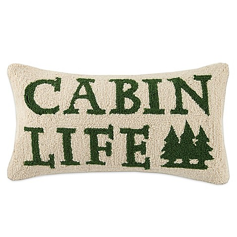 Lodge Hook Rectangle Cabin Life Throw Pillow in Green - Bed Bath & Beyond