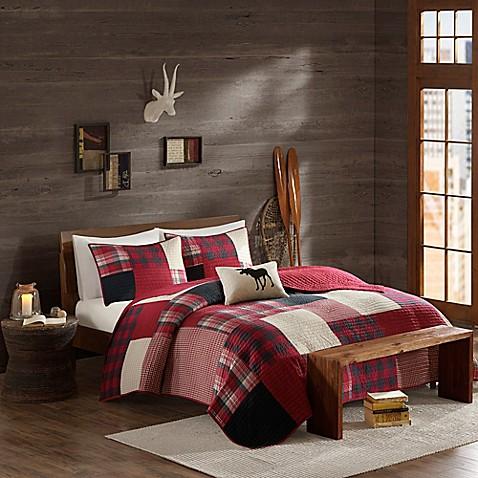 Buy cedar ridge lodge sunset king coverlet in red from bed for Cedar ridge storage