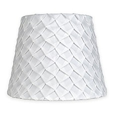 Lamp chandelier shades bed bath beyond mix amp match small 9 inch textured pleat lamp shade in white aloadofball Gallery