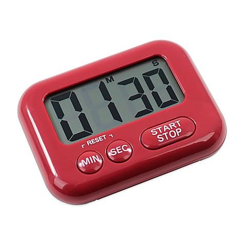 Oneida 174 Large Display Digital Timer In Red Bed Bath Amp Beyond