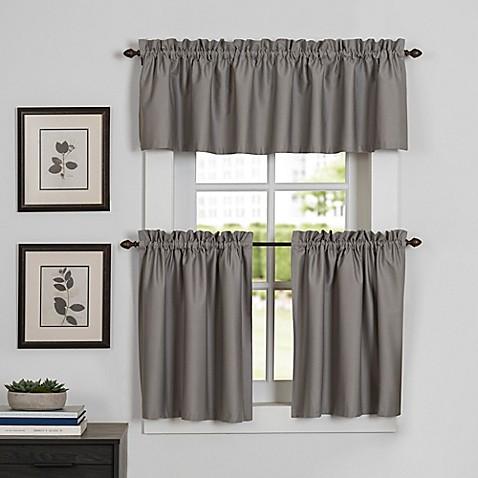 newport kitchen window curtain tier pair - bed bath & beyond