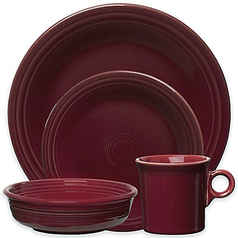 Fiesta\u0026reg; Dinnerware Collection in Claret  sc 1 st  Bed Bath \u0026 Beyond : fiesta dinnerware - pezcame.com