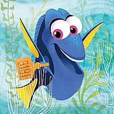 image of Dory Happy Embellished Canvas Wall Art