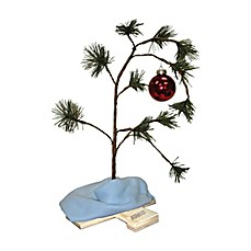 image of Peanuts® Charlie Brown 24-Inch Christmas Tree with Music Chip