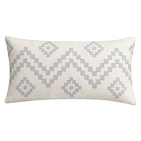 Cupcakes And Cashmere Kilim Oblong Throw Pillow In White