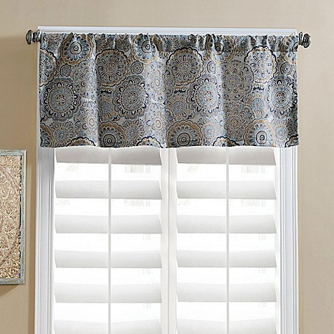 jezebel tailored window valance - bed bath & beyond