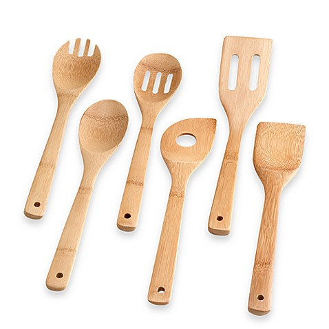 Totally Bamboo 6-Piece Bamboo Utensil Set - Bed Bath & Beyond