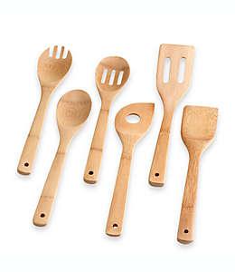 Set de  utensilios de bambú Totally Bamboo®, 6 pzas