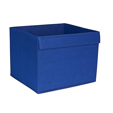 Buy household essentials basic open storage bin with for Navy bathroom bin