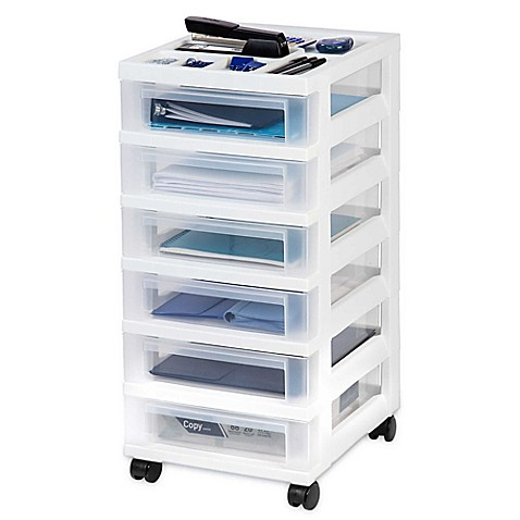 IRISu0026reg; 6 Drawer Rolling Storage Cart