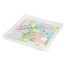 image of IRIS® Plastic 12-Inch x 12-Inch Scrapbook Storage Cases (Set of 10)