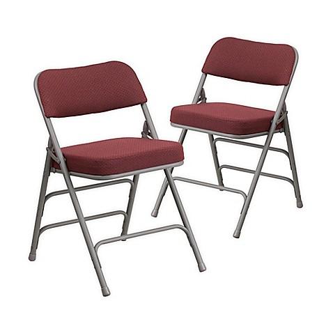 Flash Furniture Hercules Padded Folding Chairs In Burgundy