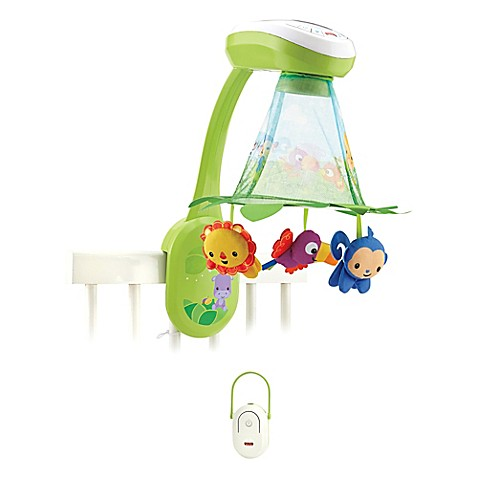 Fisher Price Rainforest Grow With Me Projection Mobile Bed Bath