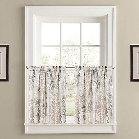 J Queen New York Galileo 45 Inch Grommet Window Curtain Panel Pair In Natural Bed Bath Beyond