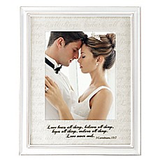 image of Malden® 8-Inch x 10-Inch Love Letter with Corinthians Verse Photo Frame