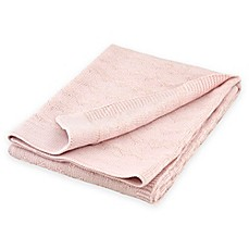 image of Just Born® Sparkle Chevron Sweater Knit Blanket in Pink