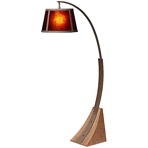 Pacific Coast Lighting 174 Oak River Arc Floor Lamp Bed