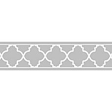 image of Sweet Jojo Designs Trellis Wallpaper Border in Grey/White