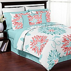 coral and turquoise bedding   Bed Bath & Beyond