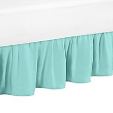 image of Sweet Jojo Designs Skylar Bed Skirt in Turquoise