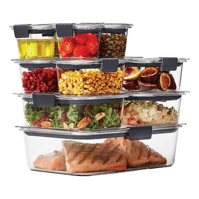 Rubbermaid Brilliance 22 piece Food Storage Container Set Bed
