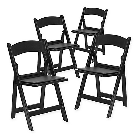 Flash Furniture Hercules Resin Folding Chairs Set Of 4 Bed Bath Beyond