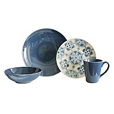 image of Baum Medallion 16-Piece Dinnerware Set in Cornflower