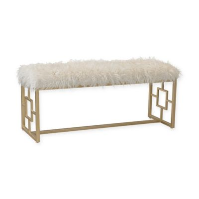 image of Sterling Industries Betty Retro Double Bench in White