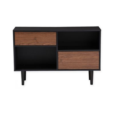 image of Baxton Studio Auburn Sideboard Storage Cabinet in Dark Brown