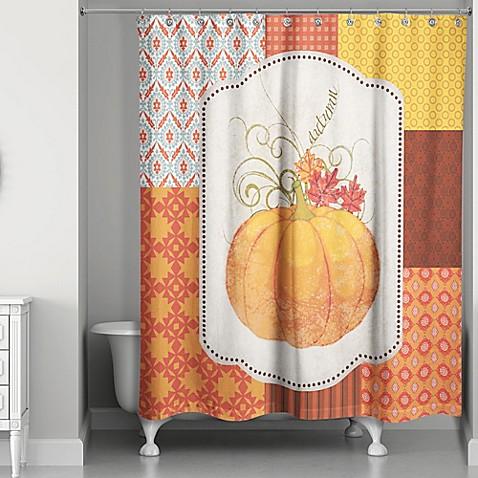 Autumn pumpkin shower curtain bed bath beyond - Bathroom items that start with l ...
