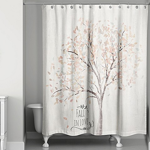Fall in Love Shower Curtain - Bed Bath & Beyond
