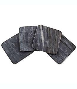 Portavasos Thirstystone®, cuadrado de mármol en negro