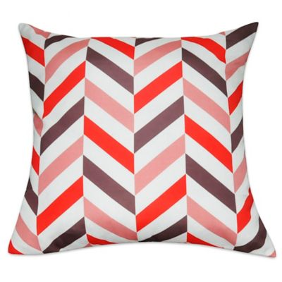 Buy Loom & Mill Chevron Throw Pillow in Coral from Bed Bath & Beyond