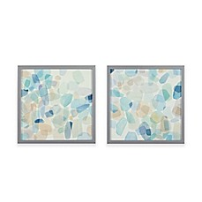 image of Intelligent Designs Gemstone Tiles Decorative Box Wall Art (Set of  2)