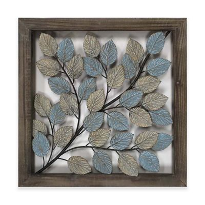 Metal tile wall art home decor.