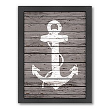 Image Of Americanflat Wood Quad Anchor Framed Wall Art