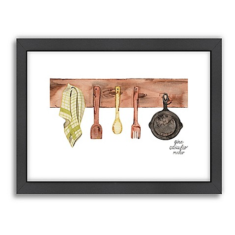 Americanflat gina maher rustic kitchen wall art bed bath for Gina s italian kitchen