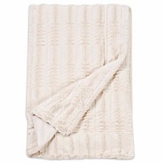 image of Embossed Faux Mink Fur Throw Blanket