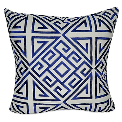 Blue Geometric Throw Pillows : Buy Geometric Square Throw Pillow in Blue from Bed Bath & Beyond