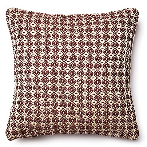 Buy Loloi Hera 18-Inch Square Throw Pillow in Red/Beige from Bed Bath & Beyond